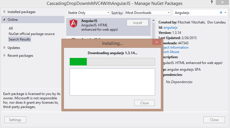 Cascading DropDown In MVC4 With AngularJS