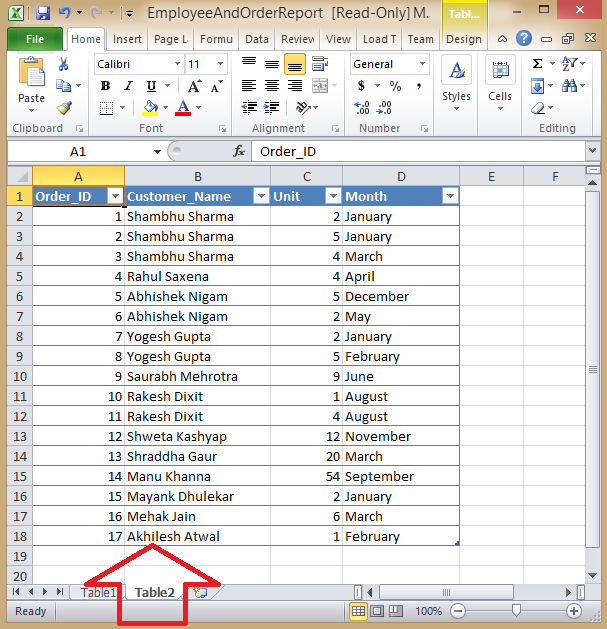 Export multiple Data Tables to Multiple worksheets inside a single