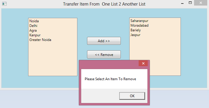 Transfer Data From One List to Another In WPF 4.png
