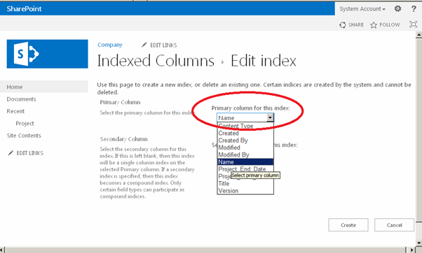Index On A List in SharePoint 4.png