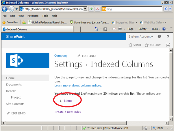 Index On A List in SharePoint 5.png